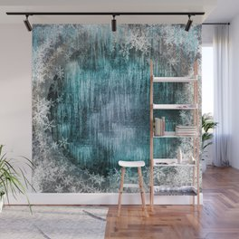 Winter Pattern - Dark Wall Mural