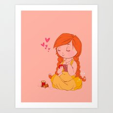 sewing love Art Print