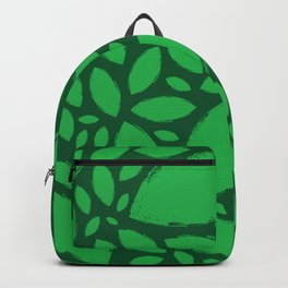 Painted Tree Leaves V2 - Green Backpack