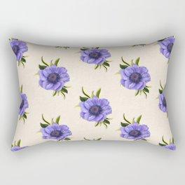 Purple anemona - botanical art - vintage flowers - purple pattern Rectangular Pillow