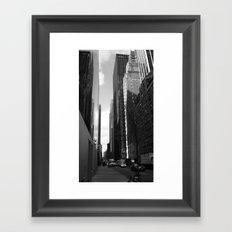 Reflection of the street Framed Art Print