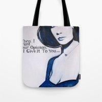 jenny liz rome Tote Bags featuring Liz by Sandi Sharp