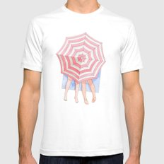 Costa del Amor White Mens Fitted Tee SMALL