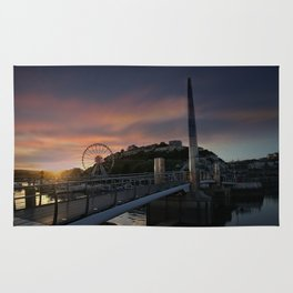 Torquay Harbour At Sunset Rug