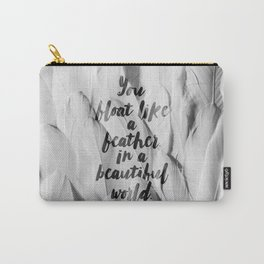 Like a feather in a beautiful world. Carry-All Pouch