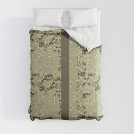 Neutrals in Foliage & Lilacs By Danae Anastasiou Comforters