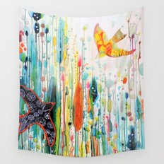 where ever you are Wall Tapestry