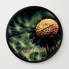 Dying Wish (Eerie Dandelion Flower) Wall Clock