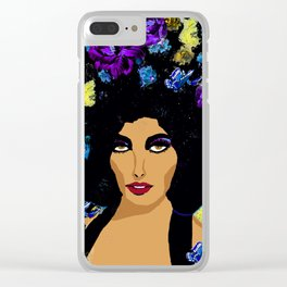 WOMAN LIVING A COMPLICATED LIFE Clear iPhone Case