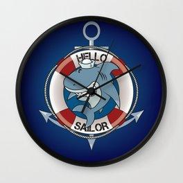 Hello sailor! Wall Clock