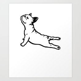 FRENCH BULL DOG YOGA NAMASTE product FUNNY GYM design DOGS Art Print