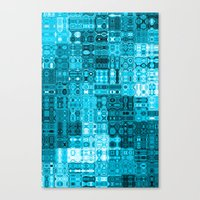 blueprint Canvas Prints featuring Blueprint by Alice Gosling