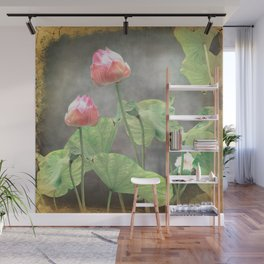 Asiatic Flowers in Pale Pink Wall Mural