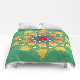 Yellow Rosette Comforters