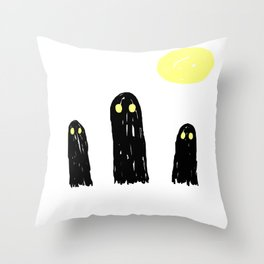 Little ghostie boos Throw Pillow