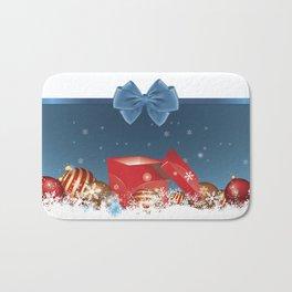 blue holiday Bath Mat