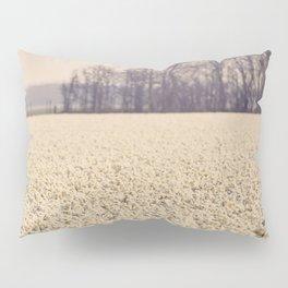 White Narcissus field Pillow Sham