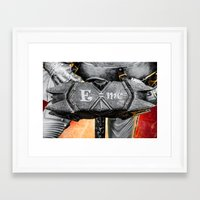 warhammer Framed Art Prints featuring Medieval knight with a warhammer by digital2real