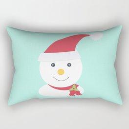 Cute happy snowman Rectangular Pillow