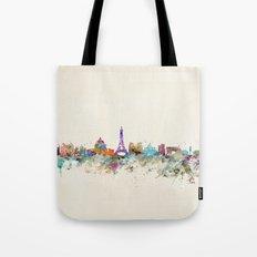 Paris city skyline  Tote Bag