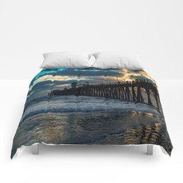 South Side Oceanside Pier ~10-2015 Comforters