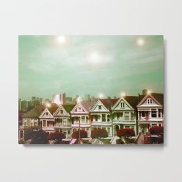 Painted Ladies - remix Metal Print