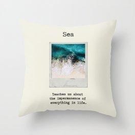 Small Emotional Dictionary: Sea Throw Pillow