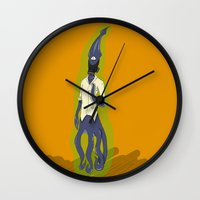 fallout Wall Clocks featuring Fallout Squid by PhantomAmber