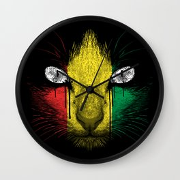 Rasta Meow Wall Clock