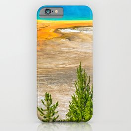 Yellowstone National Park Grand Prismatic Spring Nature Landscape iPhone Case
