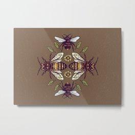 Flowers for Honey Bees Metal Print