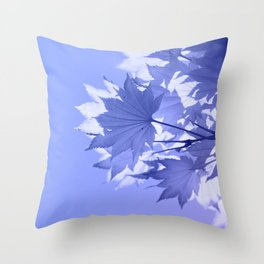Purple Bough Throw Pillow