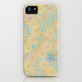 Antique Floral Good Old Days (plain) iPhone Case