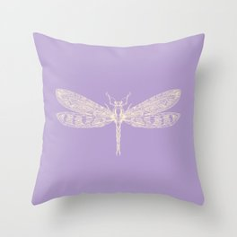 Lavender Dragonfly Throw Pillow