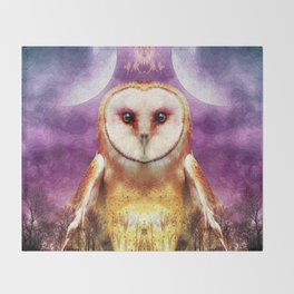She shines all over the world Throw Blanket