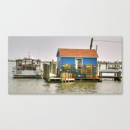 Little Blue Crab Shanty  Canvas Print