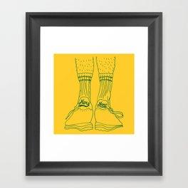 Hairy Legs Framed Art Print