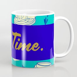 Blue Food Time Pattern Coffee Mug