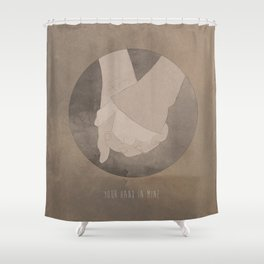 Your Hand In Mine. Shower Curtain