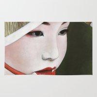 geisha Area & Throw Rugs featuring Geisha by Andrea Maiorana