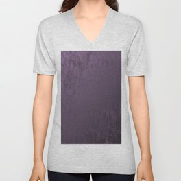 Purple Velvet Unisex V-Neck