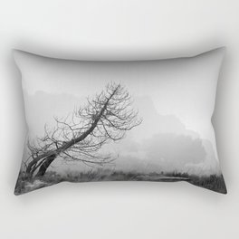 Windy tree. BW Rectangular Pillow
