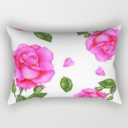 Shabby Chic Vintage Pink Rose Rectangular Pillow