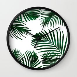 Tropical Palm Leaf Wall Clock