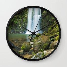 II - Rainforest waterfalls, Beauchamp Falls, Great Otway NP, Victoria, Australia Wall Clock