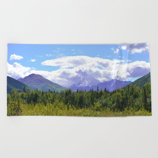 The Mountains Are Calling . . . II Beach Towel