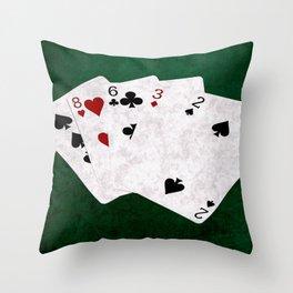 Poker Hand High Card Ten Eight Six Three Two Throw Pillow