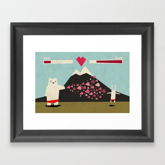 I love you more! Framed Art Print