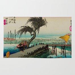 Yokkaichi - Vintage Japanesse Ukiyo e Art Rug