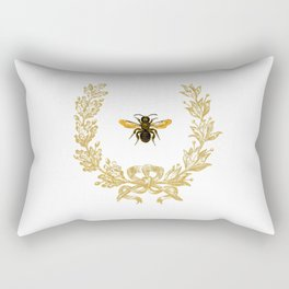 French Bee acorn wreath Rectangular Pillow